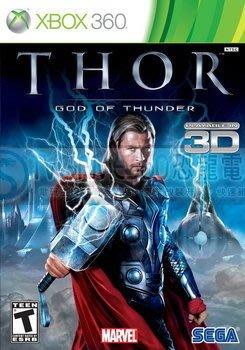 【全新未拆】XBOX360 3D 雷神索爾 THOR God of thunder 英文版【台中恐龍電玩】