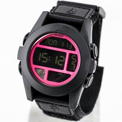 現貨 可自取 NIXON 尼克森 手錶 50mm LED燈 計時多功能 魔鬼氈 電子錶 A489480 A489-480