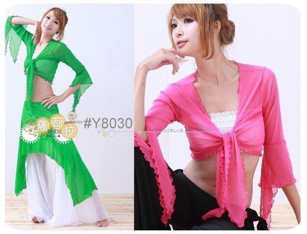 *~薩瓦拉 :多色(深紫停產)_Y8030_彈性網紗水袖綁帶3穿式外套上衣/海灘罩衫