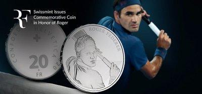 限量發售 費德勒 Roger Federer coin 瑞士 法郎 紀念幣 銀幣