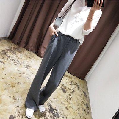 歐美韓國 西裝褲 長褲 寬褲 灰色 黑色 秒變大長腿 直筒  闊腿褲 街拍 穿搭 NL Select Shop
