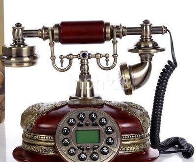 INPHIC-別墅復古電話機白色座機家用歐式田園復古電話機