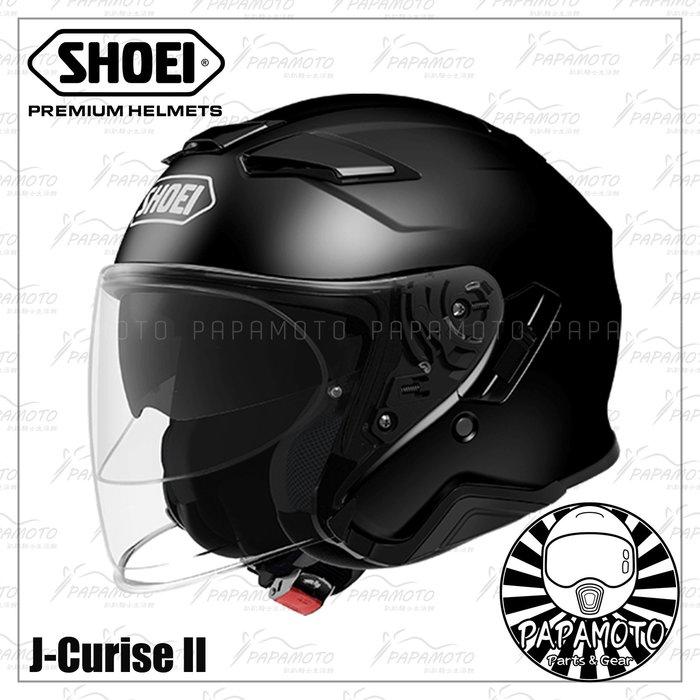 【趴趴騎士】SHOEI J-Cruise 2 - 黑 3/4 安全帽 (內墨片 JCruise2
