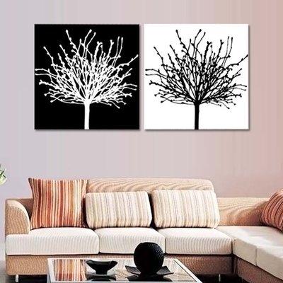 裝飾畫 客廳 現代 無框畫板畫壁畫家居飾品 發財樹 5052QY-168298-