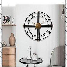 紐約公寓工业风铁艺复古镂空壁挂钟表loft网咖啡馆服装店墙面装饰客厅时钟