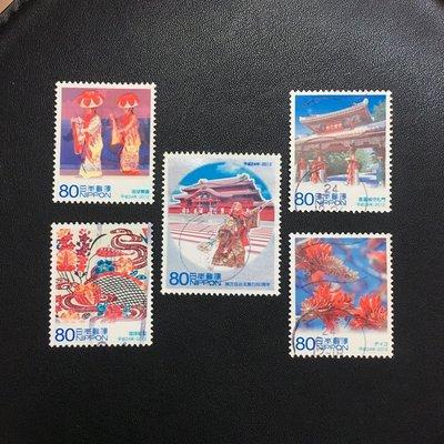 (G71)外國郵票 日本郵票 2012地方自治法實施60周年紀念 第20集  沖繩縣 5全