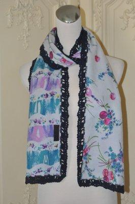 專櫃正品ANNA SUI安娜蘇 兩面都可以用的毛料針織類絲圍巾