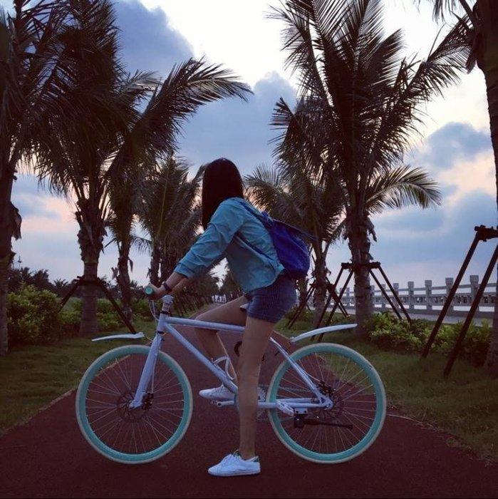 YEAHSHOP 死飛腳踏車彩色雙碟剎腳踏車Y185