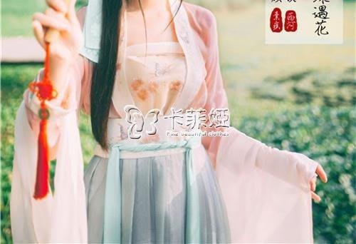 女士漢服 新款刺繡對襟齊腰襦裙改良版成人古風套裝清新仙女古裝服飾漢服女 --奇異空間