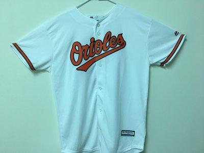 MLB 美國職棒大聯盟 巴爾的摩金鶯隊 白色 棒球衣 青年版 Majestic Baltimore Orioles
