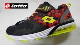 北台灣大聯盟 義大利第一品牌-LOTTO 男童5大機能輕巧玩色氣墊復古慢跑鞋 5110 黑紅 超低直購價498元