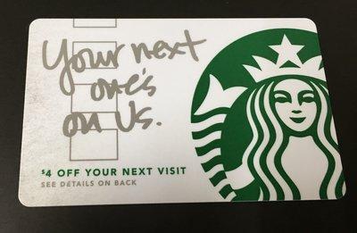 星巴克 Starbucks 美國 2013 特別版 女妖 女神 隨行卡 your next one's on us