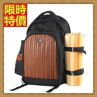 野餐包 2人餐具組 雙肩後背包-大容量好背透氣背袋多功能攜帶方便野餐包 68ag38[獨家進口][米蘭精品]