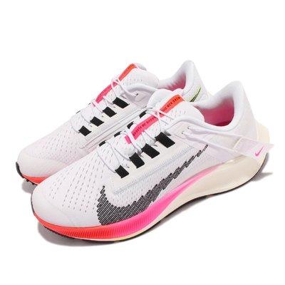 =CodE= NIKE W AIR ZOOM PEGASUS 38 FLYEASE網布慢跑鞋(白紅)DJ5413-100