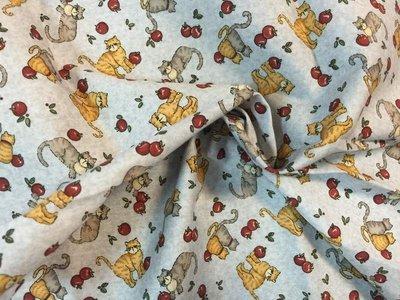 【傑美屋-縫紉之家】日本棉布配色小布塊#小貓系列 i3011015最後尺寸