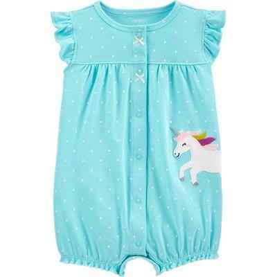 ♡NaNa Baby♡ 美國Carter's 短袖連身衣 - 藍色獨角獸 #1H514210