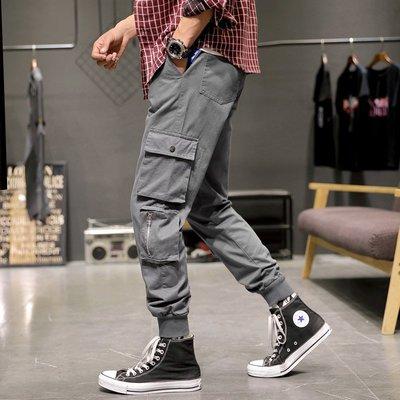 型男風 M-8XL 新款日系大碼 束腳褲 寬松男青年多口袋休閑工裝褲 2020
