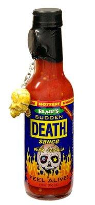 日本 死亡辣醬 布雷爾猝死辣醬 骷顱頭 辣椒醬 Blair's Death Sauce 整人 調味料 SUDDEN