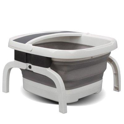 折疊足浴盆電動加熱足浴器全自動按摩洗腳盆家用足療泡腳桶恒溫深