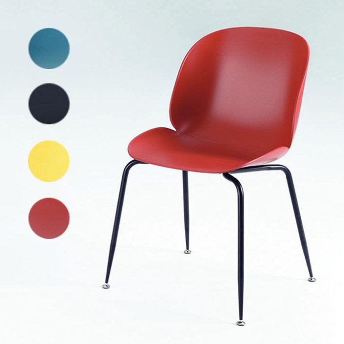 【在地人傢俱】20 幸福購-PP-719黑腳藍色/黑色/黃色/紅色PP椅/餐椅/休閒椅 CS926-9