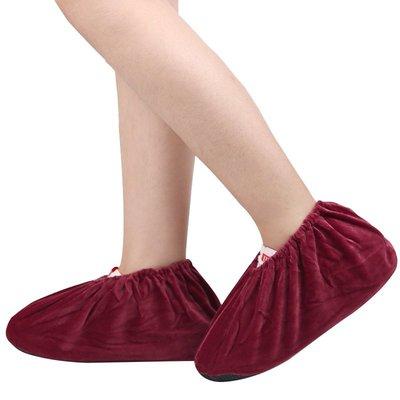 雜貨小鋪 絨布鞋套家用布可反復洗兒童腳...