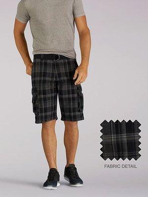 【美國Levis專賣】送鐵環腰帶LEE Dungarees Cargo 重磅 格紋款立體口袋短褲29-42腰優惠501