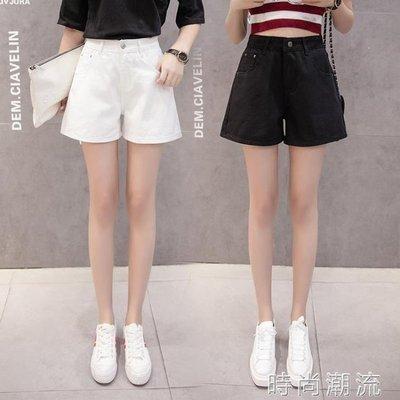 ZIHOPE 牛仔短褲女夏韓版高腰學生破洞寬鬆初戀褲女學生寬管熱褲ZI812
