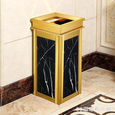 不銹鋼垃圾桶酒店大堂立式高檔家用電梯口仿大理石戶外灰桶大號 LR21484『3C環球數位館』