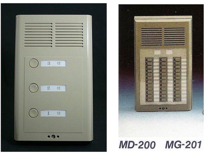 明谷牌半數位式門口對講機(公寓式)MD-200-24戶