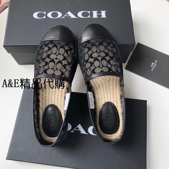A&E精品代購 Coach 蔻馳 C字標誌性印花(黑) 漁夫鞋 美國代購