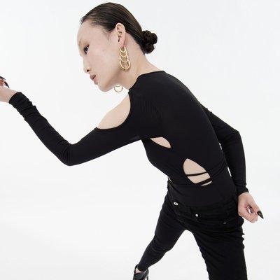 七家原創設計夸張摩登多層大圓圈金色耳環韓國氣質網紅大圓臉 顯瘦