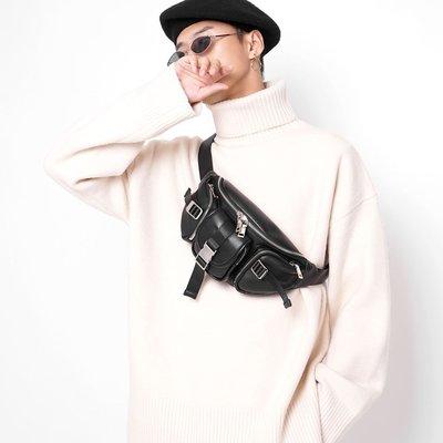 @如意坊 松林火山原創設計時尚時髦多兜男款小包斜挎包腰包胸包百搭情侶包