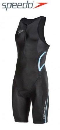 ~有氧小舖~SPEEDO新款 3T鐵人三項運動專用連身泳衣Event 三鐵衣 黑-藍  男款