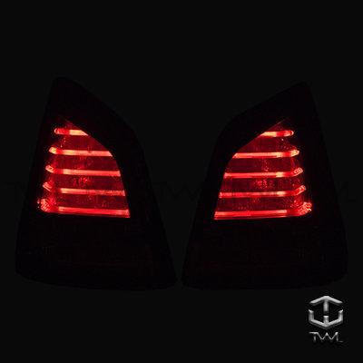 《※台灣之光※》全新 NISSAN 日產 LIVINA 07 08 09年專用LED銀底晶鑽尾燈組台灣製 現貨