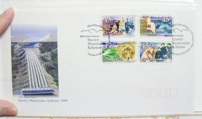 (全新) 1999 年-澳洲-Snowy Mountains -首日封