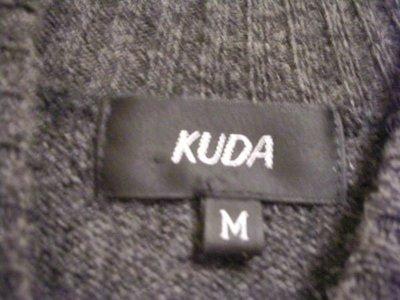 全新專櫃正品 KUDA 深鐵灰黑色立領閃亮黑色縫珠綴飾可單穿女短袖毛衣