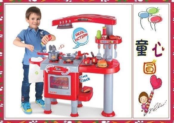 新款專櫃-超大豪華款快樂廚房小天地~-美式新廚房烹飪組~◎童心玩具1館◎