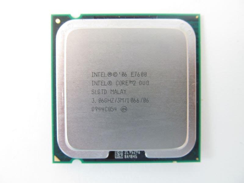 正式版 intel Core 2 雙核心 處理器 E7600 3.06G 775