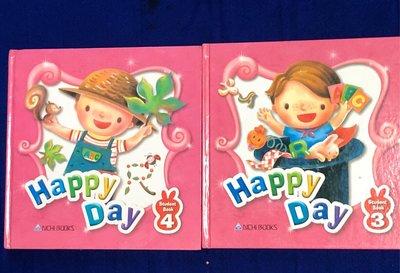 【彩虹小館QQ】童書~Happy Day_Student Book(3_書+4_書.互動光碟)
