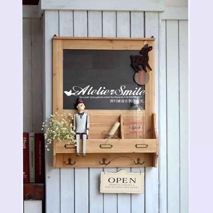 [ Atelier Smile ] 鄉村雜貨 美式鄉村風 壁掛 咖啡廳 留言板 黑板 原木製 三色選 (現+預)