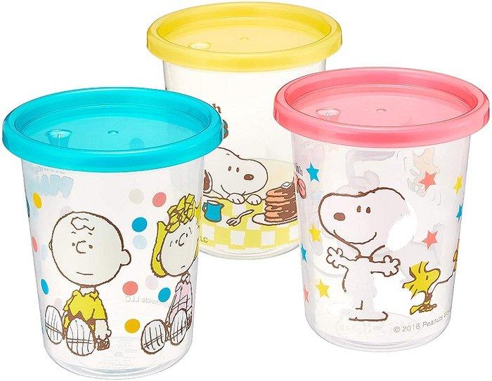【SNOOPY】日本製☆.。幼兒史努比小水杯~3杯組(含吸管)*☆.。.:*