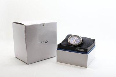 【高雄青蘋果】SEIKO精工 Criteria 零極限三眼計時腕錶-藍x黑/44mm 二手手錶 #22071