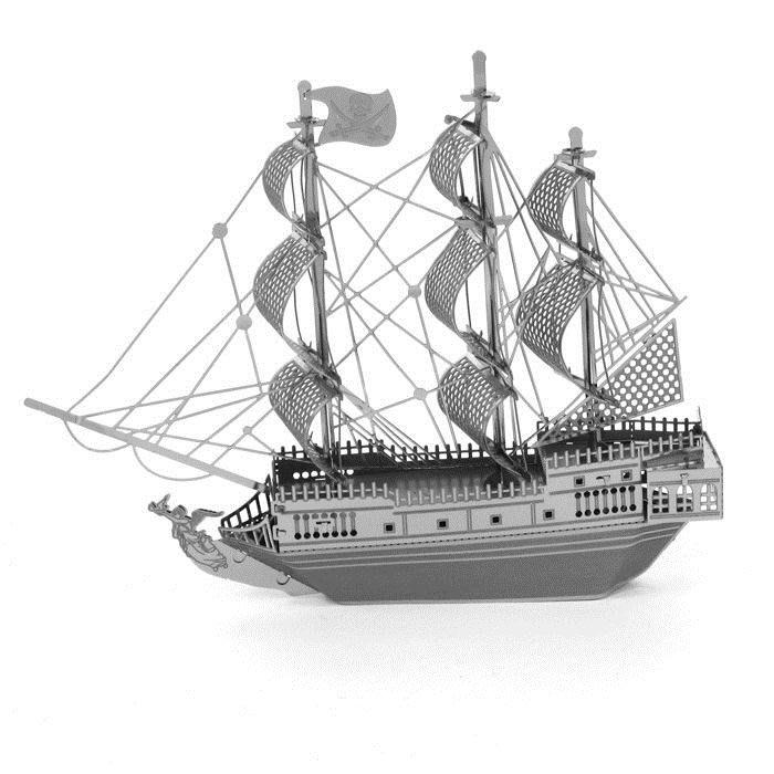 金屬拼圖全金屬3D立體DIY模型拼裝黑珍珠號