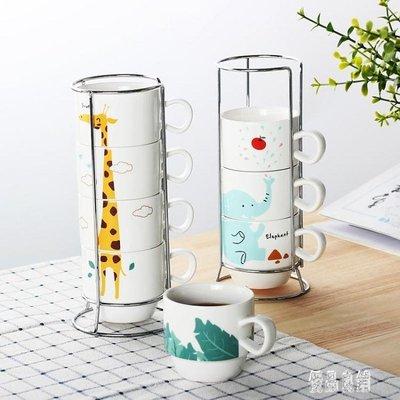 家用咖啡杯套裝創意下午茶具簡約陶瓷杯馬克杯掛耳咖啡套具4件套