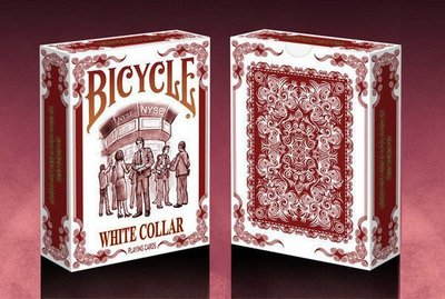 【USPCC撲克】Bicycle white collar playing cards