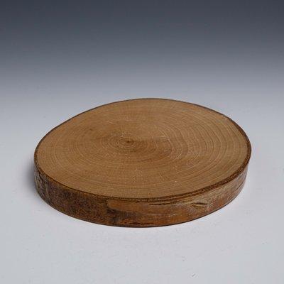 【吳苑】 輪切 實木 茶盤 茶船 日本 古美術 茶道具 花道具 書道具 AN0082