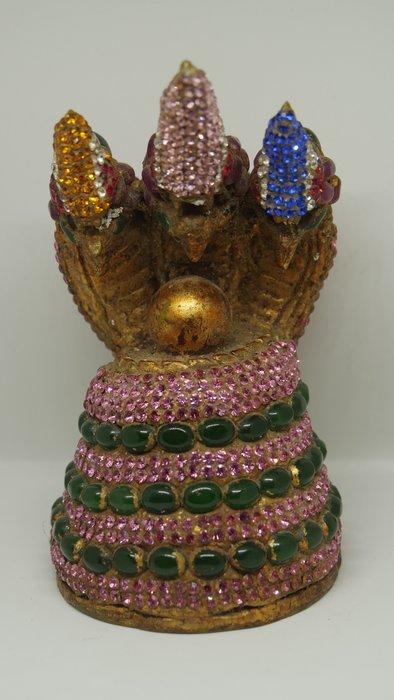 (希瓦利佛牌殿) 2401 招財水龍 玉佛寺 供奉型 阿贊多頌經加持 14x8cm
