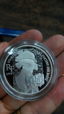 大草原典藏,法國純銀幣,超級美