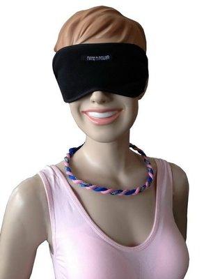 【鈦玩美】負離子能量好夢鈦鍺眼罩+玫瑰金鈦頸圈