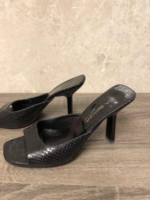 義大利 VIA SPIGA 黑鞋 6號